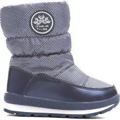 Granatowe Śniegowce Get used to. Niebieskie buty zimowe dziewczęce Born2be, z materiału. Za 89.99 zł.