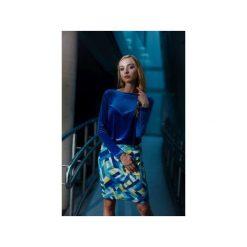 Sukienka Velvet Diamond. Niebieskie sukienki damskie Fevey, z dzianiny, z długim rękawem. Za 320.00 zł.