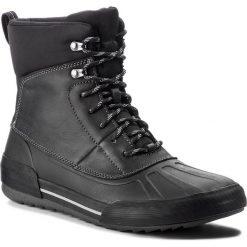 Kozaki CLARKS - Bowman Rise 261375837 Black Leather. Czarne kozaki męskie Clarks, z materiału. W wyprzedaży za 319.00 zł.