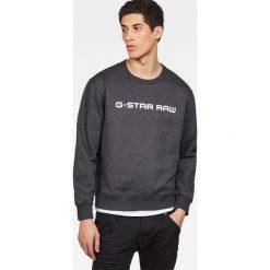 G-Star Raw - Bluza. Czarne bluzy męskie G-Star Raw, z nadrukiem, z bawełny. Za 349.90 zł.