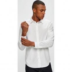 Diesel - Koszula. Szare koszule męskie Diesel, z bawełny, z klasycznym kołnierzykiem, z długim rękawem. Za 469.90 zł.