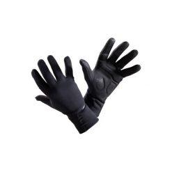 Rękawiczki na rower 500 jesienne. Czarne rękawiczki damskie B'TWIN, na jesień, z polaru. Za 49.99 zł.