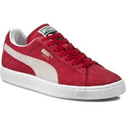 Półbuty PUMA - Suede Classic + 352634 05 Team Regal Red/White. Czerwone półbuty damskie Puma, z materiału. W wyprzedaży za 239.00 zł.