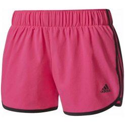"""Adidas Spodenki m10 Short Woven Shock Pink /Black M 3"""". Czarne szorty sportowe damskie Adidas, ze skóry, sportowe. W wyprzedaży za 89.00 zł."""