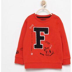 Bluza z miękką aplikacją - Czerwony. Bluzy dla chłopców Reserved, z aplikacjami. W wyprzedaży za 14.99 zł.