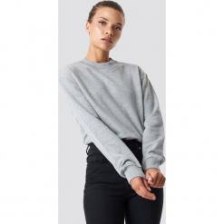 NA-KD Basic Bluza basic - Grey. Szare bluzy damskie NA-KD Basic, prążkowane. Za 100.95 zł.