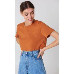 NA-KD Basic Krótki T-shirt oversize - Orange,Copper. Pomarańczowe t-shirty damskie NA-KD Basic. Za 40.95 zł.