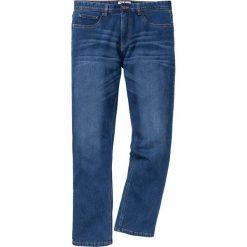 """Dżinsy ocieplane z dzianiny dresowej Regular Fit Straight bonprix niebieski """"used"""". Jeansy męskie marki bonprix. Za 159.99 zł."""