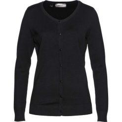 Sweter rozpinany bonprix czarny. Kardigany damskie marki bonprix. Za 89.99 zł.