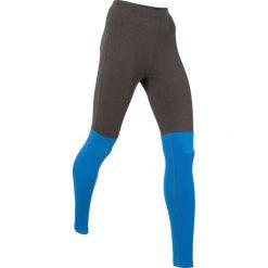 Legginsy sportowe, długie, Level 1 bonprix antracytowy melanż - lazurowy. Legginsy damskie marki DOMYOS. Za 79.99 zł.