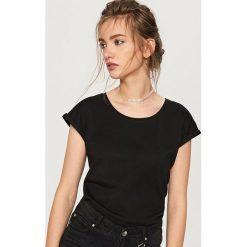 T-shirt z bawełny organicznej - Czarny. T-shirty damskie marki DOMYOS. Za 24.99 zł.