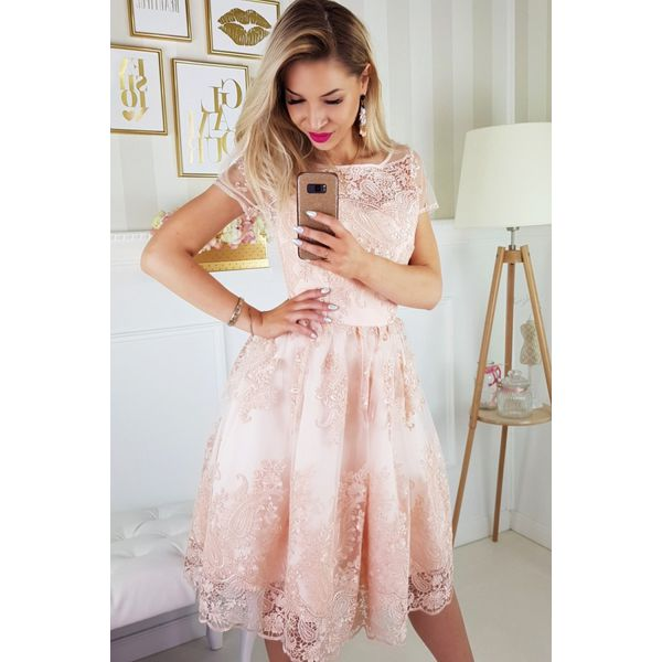 96968976544eed Sukienka koronkowa midi 2135 - Sukienki damskie Bico, w koronkowe ...