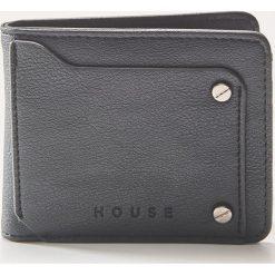 Portfel z eco skóry - Czarny. Czarne portfele męskie House, ze skóry. Za 39.99 zł.