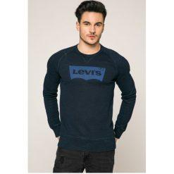 Levi's - Bluza. Brązowe bluzy męskie Levi's, z nadrukiem, z bawełny. Za 219.90 zł.