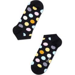 Happy Socks - Skarpetki LOW SOCKS. Czarne skarpety damskie Happy Socks, w grochy, z bawełny. Za 29.90 zł.