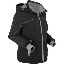 Kurtka funkcyjna outdoorowa, ocieplana bonprix czarny. Czarne kurtki damskie bonprix, w paski. Za 239.99 zł.