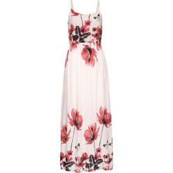 Długa sukienka z nadrukiem bonprix jasnoróżowy wzorzysty. Czerwone sukienki damskie bonprix, z nadrukiem, z długim rękawem. Za 129.99 zł.