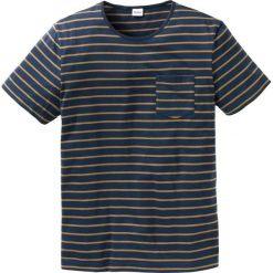 T-shirt w paski Regular Fit bonprix ciemnoniebiesko-koniakowy. T-shirty męskie marki Giacomo Conti. Za 34.99 zł.