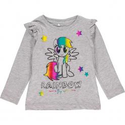 """Koszulka """"Rosita"""" w kolorze szarym. Szare bluzki dla dziewczynek Name it Kids, z nadrukiem, z falbankami, z długim rękawem. W wyprzedaży za 42.95 zł."""