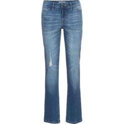 """Dżinsy """"authentik-stretch"""" STRAIGHT bonprix niebieski. Jeansy damskie marki bonprix. Za 99.99 zł."""