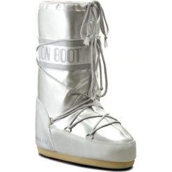 Śniegowce MOON BOOT - Vinile Met. 14021400002 Bianco D. Szare kozaki damskie Moon Boot, ze skóry ekologicznej. Za 479.00 zł.