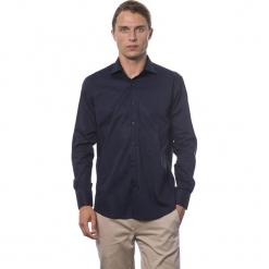 Koszula w kolorze granatowym. Niebieskie koszule męskie Roberto Cavalli, Trussardi, z klasycznym kołnierzykiem. W wyprzedaży za 219.95 zł.