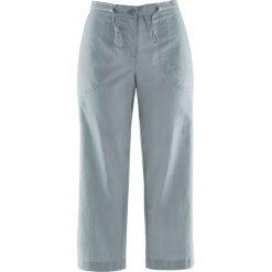 Spodnie lniane 3/4 bonprix srebrnoszary. Spodnie materiałowe damskie marki DOMYOS. Za 74.99 zł.