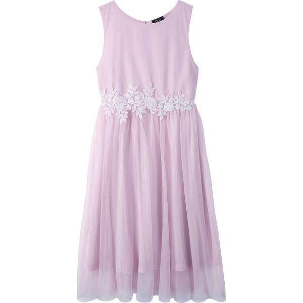 183c5511e2 Sukienka na uroczyste okazje bonprix jasnoróżowo-biały - Sukienki ...