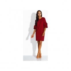 LEMONIADE  L229 Luźna sukienka w stylu hiszpańskim. Czerwone sukienki damskie Lemoniade, z bawełny, z falbankami. Za 125.90 zł.