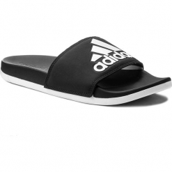 Klapki adidas - adilette Cf+ Logo W CG3427 Cblack/Ftwwht/Cblack. Czarne klapki damskie Adidas, z materiału. W wyprzedaży za 129.00 zł.