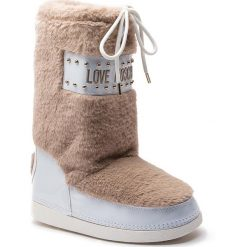 Śniegowce LOVE MOSCHINO - JA24052G06JS0209 Ardesia. Białe kozaki damskie Love Moschino, z materiału. Za 719.00 zł.