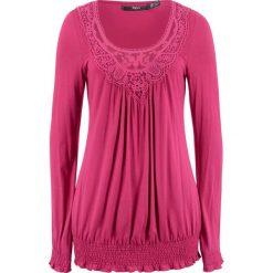 Tunika shirtowa, długi rękaw bonprix jeżynowy. Fioletowe tuniki damskie bonprix, z długim rękawem. Za 74.99 zł.