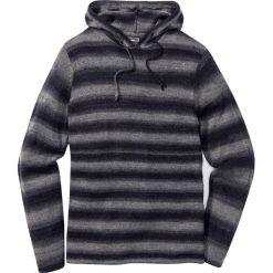 Sweter z kapturem Slim Fit bonprix szaro-niebieski w paski. Swetry przez głowę męskie marki Giacomo Conti. Za 89.99 zł.
