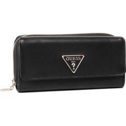 Czarne portfele damskie Guess Kolekcja zima 2020