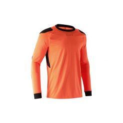 Koszulka bramkarska F100. Czerwone bluzki z długim rękawem męskie KIPSTA, z materiału. Za 49.99 zł.