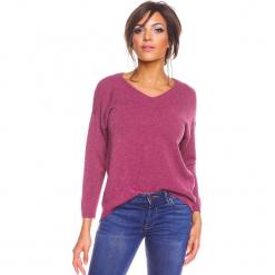 """Sweter """"Karine"""" w kolorze różowym. Czerwone swetry damskie So Cachemire, z kaszmiru. W wyprzedaży za 173.95 zł."""