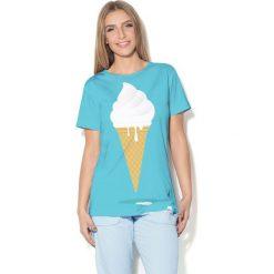 Colour Pleasure Koszulka CP-030 66 niebieska r. XS/S. Bluzki damskie marki Colour Pleasure. Za 70.35 zł.