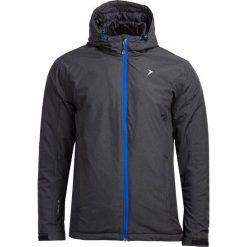 Kurtka narciarska męska KUMN600 - CZARNY MELANŻ - Outhorn. Czarne kurtki męskie Outhorn, na jesień, melanż, z materiału. W wyprzedaży za 160.99 zł.