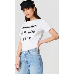 Trendyol T-shirt Feminism Statement - White. Białe t-shirty damskie Trendyol, z nadrukiem, z bawełny. Za 60.95 zł.