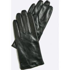 Vero Moda - Rękawiczki skórzane. Czerwone rękawiczki damskie Vero Moda, z materiału. Za 149.90 zł.