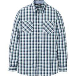 Koszula z długim rękawem w kratę bonprix ciemnoniebiesko-jasnozielono-biały w kratę. Koszule męskie marki Giacomo Conti. Za 74.99 zł.