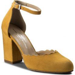 Półbuty BRENDA ZARO - T2525B Aina. Żółte półbuty damskie Brenda Zaro, z materiału. W wyprzedaży za 269.00 zł.