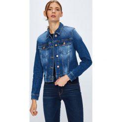 Guess Jeans - Kurtka Adelya. Niebieskie kurtki damskie Guess Jeans, z bawełny. W wyprzedaży za 439.90 zł.