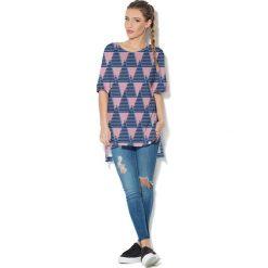 Colour Pleasure Koszulka CP-033  30 różowo-granatowa r. uniwersalny. Bluzki damskie marki Colour Pleasure. Za 76.57 zł.
