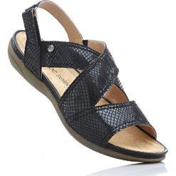 Wygodne sandały bonprix czarny. Sandały damskie marki bonprix. Za 99.99 zł.