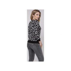 Sweter w panterkę, SWE164 czarny/grafit/ecru MKM. Czarne swetry damskie Mkm swetry, z dzianiny. Za 148.00 zł.