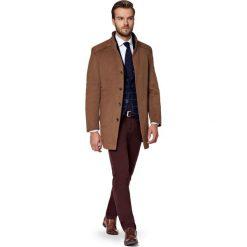 Płaszcz Beżowy Camilo. Brązowe płaszcze męskie LANCERTO, z bawełny. W wyprzedaży za 599.90 zł.