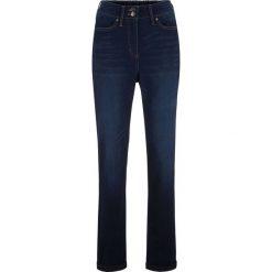 Dżinsy z gwiazdami bonprix ciemny denim. Niebieskie jeansy damskie bonprix. Za 139.99 zł.