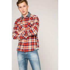 Diesel - Koszula. Szare koszule męskie Diesel, w kratkę, z bawełny, z klasycznym kołnierzykiem, z długim rękawem. W wyprzedaży za 359.90 zł.