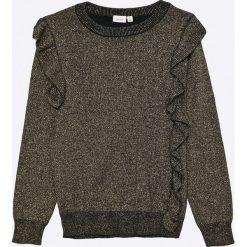 Name it - Sweter dziecięcy 122-164 cm. Swetry dla dziewczynek Name it, z bawełny, z okrągłym kołnierzem. W wyprzedaży za 59.90 zł.